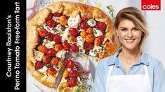 Courtney Roulston's Perino tomato free-form tart - YouTube Tomato Tart Recipe, Savory Tart, Tart Recipes, Ricotta, Vegetable Pizza, Meal Planning, Meals, Dishes, Cooking