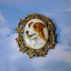 Jack Russell Terrier Brooch Dog Portrait by TheRecycleista on Etsy