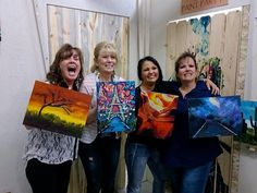 These woman had a blast at girls night, painting beautiful masterpieces!