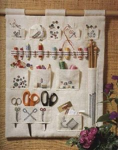 hanging sewing tools organizer