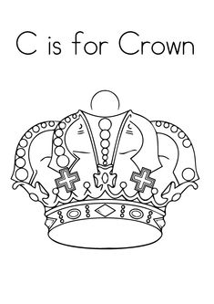 Print Coloring Image Crown CraftsPrincess PagesChurch