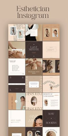 Instagram Feed Ideas Posts, Instagram Post Template, Instagram Grid, Instagram Design, Social Media Template, Social Media Design, Skincare Branding, Makeup Artists, Graphic Design Posters