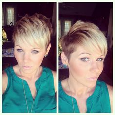 Shaved side pixie