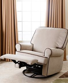 Buy Accent Chairs and Recliners at Macyu0027s! Choose armchairs living room chairs to add style u0026 comfort to your living room. & Eve Leather Recliner with Ottoman | Recliner Ottomans and ... islam-shia.org