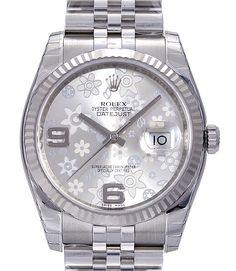 Rolex Datejust  Silver Flower Ref.116234