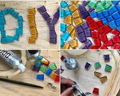 handmadebynanda: DIY Tile Stud Earrings