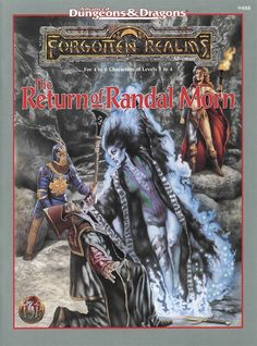The Return of Randal Morn (2e) - Forgotten Realms | Book cover and interior art for Advanced Dungeons and Dragons 2.0 - Advanced Dungeons & Dragons, D&D, DND, AD&D, ADND, 2nd Edition, 2nd Ed., 2.0, 2E, OSRIC, OSR, d20, fantasy, Roleplaying Game, Role Playing Game, RPG, Wizards of the Coast, WotC, TSR Inc. | Create your own roleplaying game books w/ RPG Bard: www.rpgbard.com | Not Trusty Sword art: click artwork for source