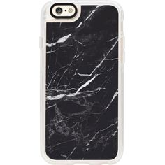 CASETIFY Black Marble iPhone 6 case (785 MXN) ❤ liked on Polyvore featuring accessories and tech accessories