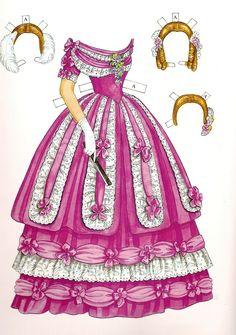 Godey's Early Victorian Fashions - Ann (1838 - 1858) | Gabi's Paper Dolls