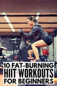 Whether you work out at home or at the gym these HIIT workouts for beginners will help you burn more calories in less time. A combination of cardio weights and quick effective exercises weve rounded up 10 fat burning high intensity interval training Full Body Workouts, Fitness Workouts, Hiit Workouts For Beginners, Cardio Workouts, Tabata, Men's Fitness, Hiit Beginner, Fitness Motivation, Family Fitness