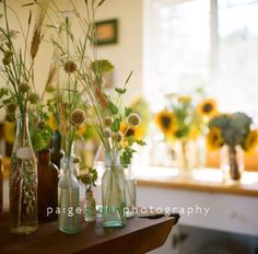 natural, casual flower arrangements, perfect for a sonoma valley wedding