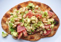 Avocado, White Bean and Grapefruit Toasts