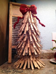 Clothespin tree clothespin tree, craft, green, room decorations, christma tree, laundry rooms, clothespin christma, christmas trees, clothespins