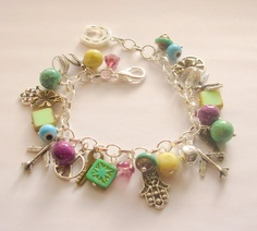 Fabulous One of a Kind Charm Bracelet by blushingpixie on Etsy, $45.00