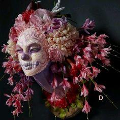 Dark Beauty Magazine Photographer: Chris Rigg  Sculptor: Krisztianna Sculpture Head, Wall Sculptures, Arte Fashion, Dark Beauty, Day Of The Dead, Skull Art, Skull Head, Macabre, Four Seasons