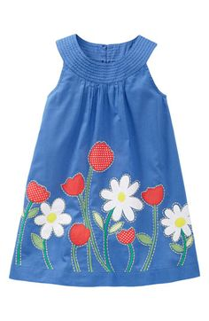 Boden pretty applique dress, & I like the applique (and am a sucker for circular yokes)Mini Boden Pretty Appliqué Dress: Spring is in full bloom with Mini Boden's Pretty Appliqué Dress in sailor blue.Boden applique dress - currently out of stockSuc Little Girl Outfits, Kids Outfits Girls, Toddler Girl Outfits, Little Dresses, Little Girl Dresses, Toddler Dress, Girls Dresses, Baby Dresses, Boy Outfits