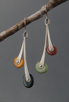 Double Pebble Earrings