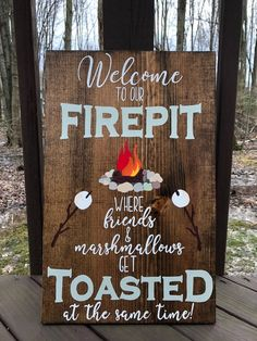 Graduation Signs Discover Welcome to our Firepit where Friends & Marshmallows get toasted Fire Pit sign Campfire Sign Backyard sign Bonfire Sign Firepit Sign Backyard Signs, Fire Pit Backyard, Backyard Landscaping, Outdoor Signs, Rustic Signs, Wooden Signs, Outdoor Projects, Wood Projects, Outdoor Crafts