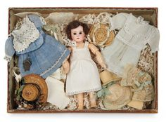 Petite French Bisque Bebe Steiner in Original Box with Trousseau 2200/2800 Auctions Online | Proxibid