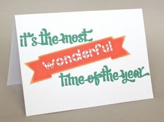 "Funny Christmas Card, Holiday Card - ""Wonderful Time"" on Etsy, $3.50"