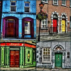 Colorful doors of Ireland- stuff like this makes me want to visit Ireland all the more:)