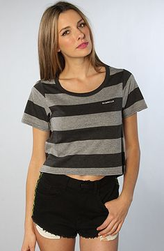 The Changing Stripes Crop Top in Charcoal