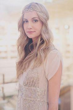 Aster Circlet by Jennifer Behr :: From BHLDN's LA fashion show :: hair :: inspiration :: beauty :: headpiece :: wedding :: bride :: bridal