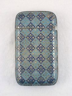 Antique Gorham Sterling Silver & Enamel Match Safe Vesta Circa 1886 Diamond Star in Antiques   eBay