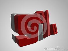 Discount 9 %. 3D illustration on white gradient background. business and finance related