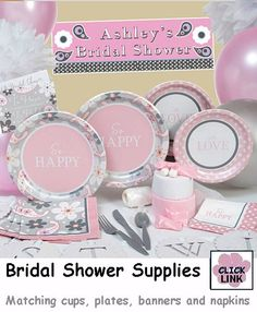 so happy is the design pattern in pink and paisley motif for this wedding bridal shower decorationswedding reception decorationswedding