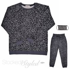 #stockedandstyled #stockonhand #stylist #stylistlife #willoughby #langley #walnutgrove #fortlangley #leggings #socialitesuite #sassysuite #fashion #styled #clothing #accessories #homeboutique #supportlocal #shoplocal #flatlay #photography #ootd #brightwhite #homephotography #leopard #leopardprint #animalprint #snowleopard #greyleopard #sweater #joggers #tracksuit #facemask Clothing Accessories, Joggers, Stylists, Ootd, Leggings, Flat, Boutique, Suits, Grey
