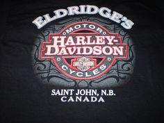 Harley-Davidson Black T-Shirt XL Saint John, N.B. Canada