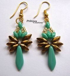 BO DAGUE TURQUOISE Dagger earrings
