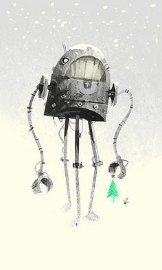 by Kevin Dart #robot #winter #snow