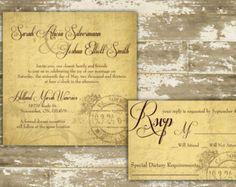 Wedding Invitation Winery Wedding Invitation Vineyard