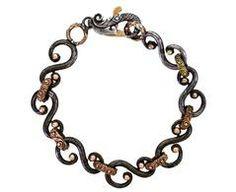 'S' Link Bracelet with Diamond Clasp
