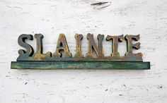 Slainte Sign Wood Bar Sign Irish Toast Gaelic by woodenaht on Etsy