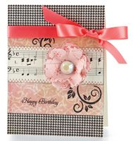 Houndstooth Birthday Card by @Vanessa Menhorn - supplies and instructions included #sheetmusic
