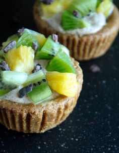 Fruit Cups with Cinnamon Creme: a heavenly flavor explosion (raw, vegan).
