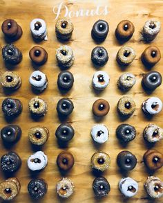 Wooden donut wall