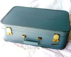 blue vintage suitcases - Google Search