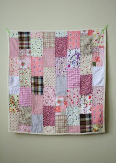 Finished Object: The Shabby Chic Bricklayer Baby Quilt. Years in the making because of a busted sewing machine, it's turned out to be my most favorite quilt I've ever made!