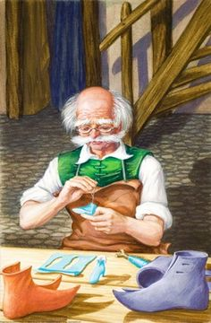 Shoemaker makes tiny shoes - the elves and the shoemaker