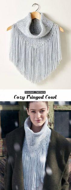 Crochet Fringed Cowl