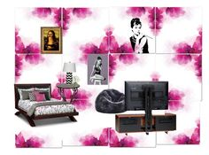 """""""Dream room!!!"""" by nycalina ❤ liked on Polyvore featuring interior, interiors, interior design, home, home decor, interior decorating, Diane James, Dot & Bo and BDI"""