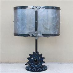 One of a Kind Gear and Sprocket Lamp Expanded Metal, Custom Made Furniture, Gears, Custom Design, Table Lamp, Industrial, Lighting, Home Decor, Lamp Table