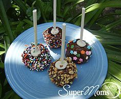 Colorful Cake Pops - The perfect sized treat for almost any festive occasion! Tags: Spring Recipes for Kids | Easter Recipes for Kids | easy spring dessert | easy spring recipe | SuperMoms360.com