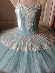 Mint green and ivory lace tutu by Margaret Shore