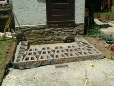 We Show The Way We Construct Steps Using Wall Stones With Photos & Descriptions - Newtown Square PA from Robert J. Patio Steps, Front Porch Steps, Brick Steps, Outdoor Steps, Concrete Steps, Back Patio, Diy Patio, Landscape Stairs, Landscape Design