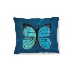 A decorative pillow of the Trophy series, decorated with the Brazilian Nymphalid butterfly. The pillow is made with felting technique.  Subtle stitching detail and emphasize its unique charm.